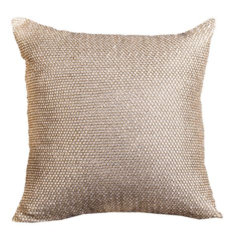 metallic gold throw pillows brava metallic gold chainmail decorative throw pillow by