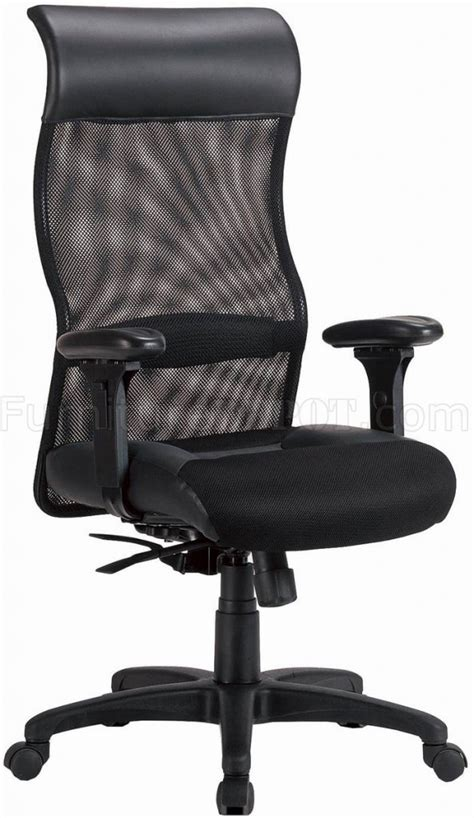 black mesh fabric adjustable modern executive home office