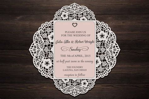 fold wedding invitation cricut wedding invitation svg