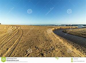 River, Estuary, Flowing, Water, And, Patterned, Sand, Coastal, Landscap, Stock, Photo