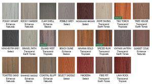 trex decking color chart  top nj  home builder