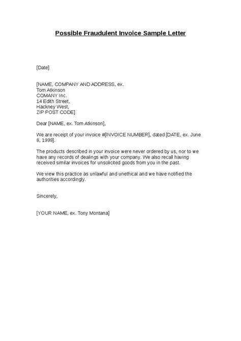 invoice letter sample dascoopinfo