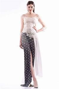 30 model dress kebaya modern muslim brokat panjang
