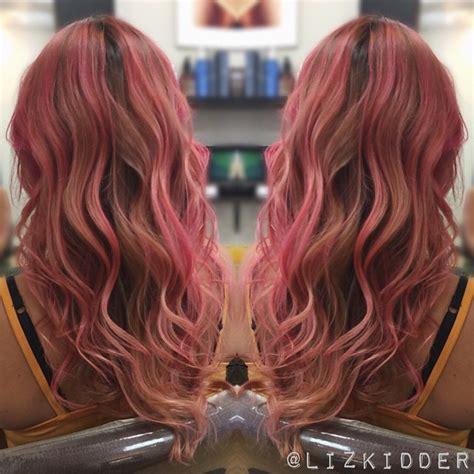 brown  peach ombre hair hair colar  cut style