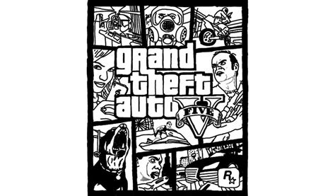 Gat Kleurplaat by Grand Theft Auto 5 Free Coloring Pages