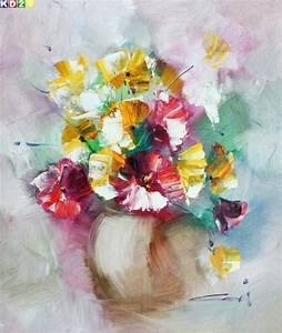 ölgemälde Blumen In Vase : modern abstrakt vase mit bunten blumen c80895 50x60cm top lgem lde modern art h ebay ~ Orissabook.com Haus und Dekorationen