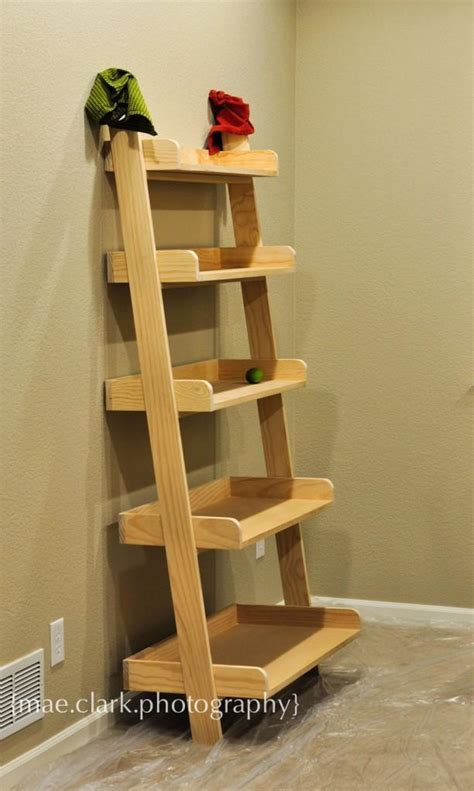 Ladder Bookcase Plans by White Leaning Wall Shelf Diy Projects
