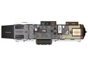 2014 fuzion 401 floor plan toy hauler keystone rv