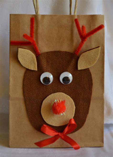 wishes  rudolph diy gift bag allfreekidscraftscom