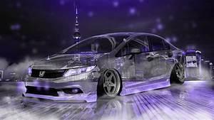 Honda Civic JDM Tuning Crystal City Night Neon Fog Smoke ...