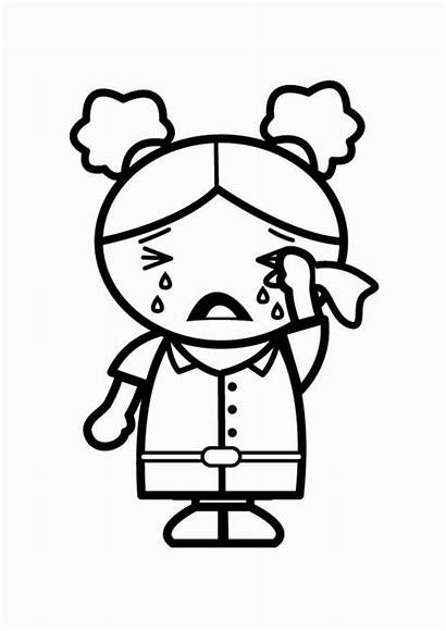 Sad Coloring Pages