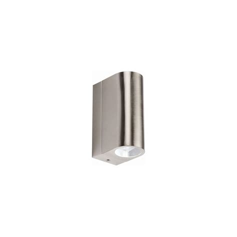 knightsbridge nh021w outdoor wall light in stainless steel
