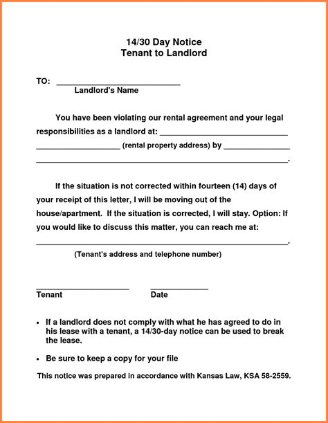 30 day notice letter 10 example of 30 day notice to tenant notice letter 20093 | example of 30 day notice to tenant sample of 30 day notice with regard to 30 day notice to vacate letter