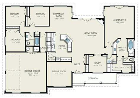 bedroom floor 4 bedroom with 2 great room 89831ah architectural