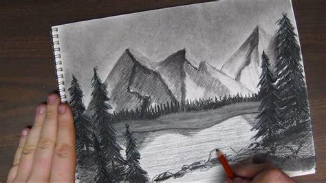 draw  mountain landscpape tutorial pt    youtube