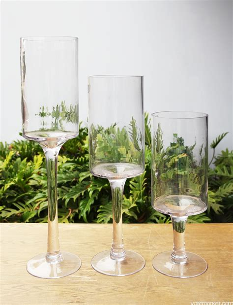 cheap glass vases for centerpieces wedding centerpiece stem candle holder set glass