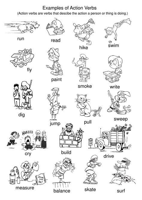 exles of action verbs tpt verb worksheets action verbs verbs list