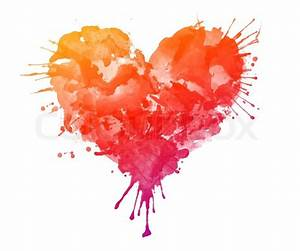 Watercolor Heart Isolated on White Background | Stock ...