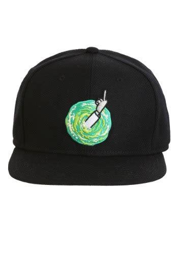 rick  morty middle finger rick snap  hat