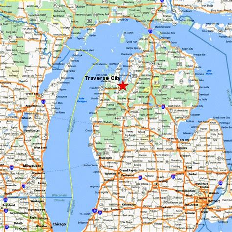 map  michigan towns  travel information