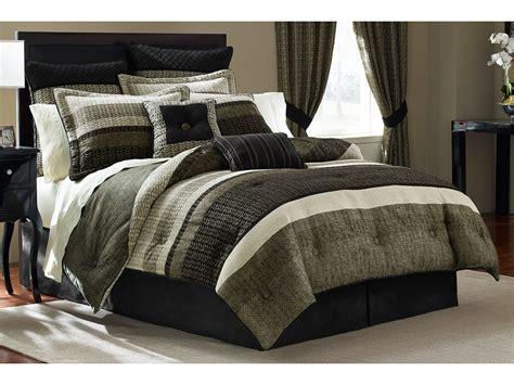 croscill portland comforter set cal king black ivory