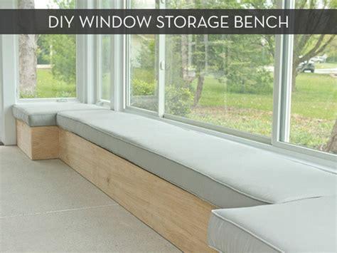 custom diy window bench  storage curbly
