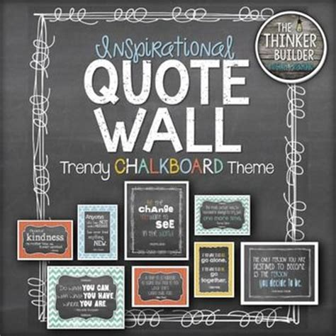 inspirational quote wall trendy chalkboard theme