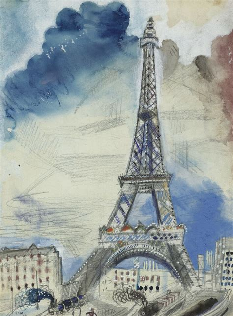 marc chagall la  eiffel