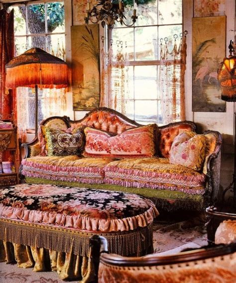 Red Fabric Corner Sofa by 85 Inspiring Bohemian Living Room Designs Digsdigs