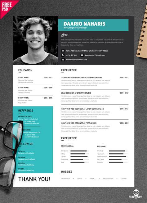 simple resume design  psd psddaddycom