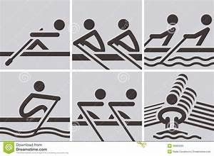 Rowing Icons Royalty Free Stock Photo - Image: 36884265