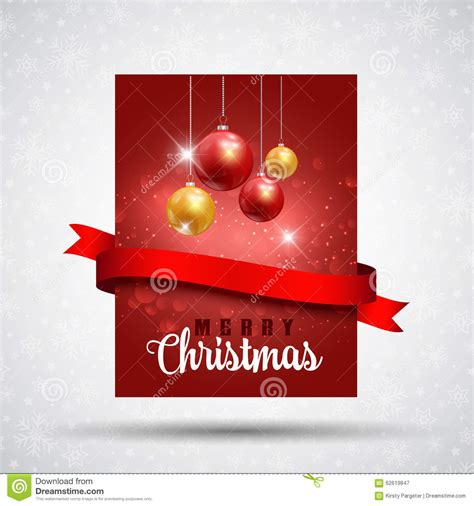 christmas flyer background stock vector image