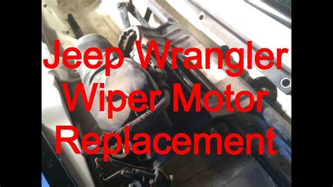 repair windshield wipe control 1999 jeep cherokee head up display windshield wiper motor replacement 1999 jeep wrangler youtube