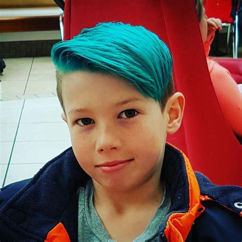 Teal Turquoise Blue Hair Merman Hair Boys Haircut