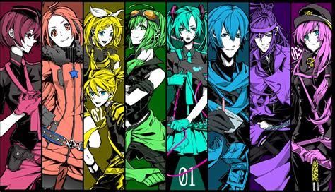 Anime Wallpaper Vocaloid - vocaloid求图 全家福 百度知道