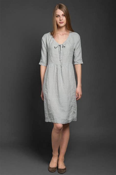 gray linen dress pure linen light grey linen dress mini