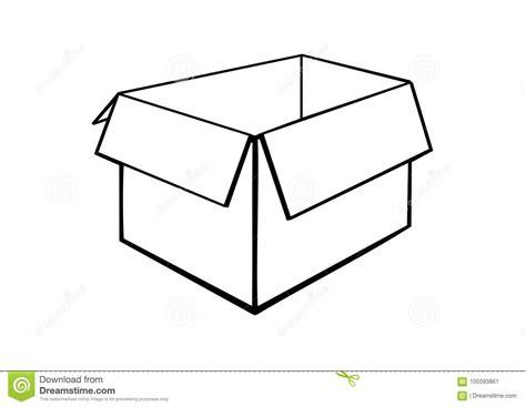 opened cardboard box stock vector illustration