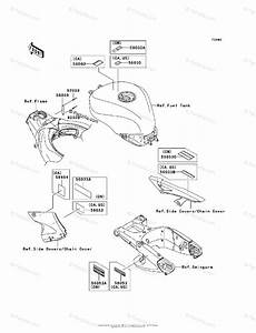 Kawasaki Motorcycle 2007 Oem Parts Diagram For Labels