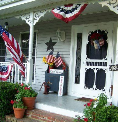 beautiful patriotic porches     july
