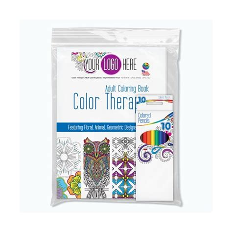 color therapy 174 adult coloring pack promotional activity