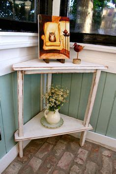 small corner table  tier corner shelf shabby  chic