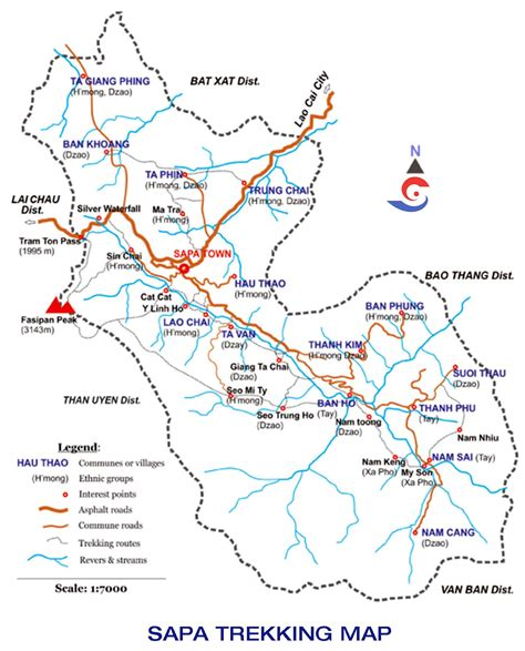 sapa trekking map sapa tours  hanoi vietnam map