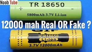 U00a31 00 Chinese 18650 Test True Capacity Li Ion Battery
