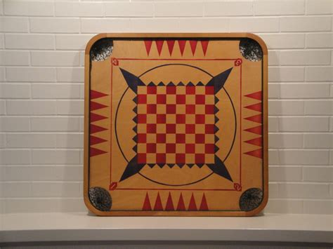 1940s Vintage Carrom Game Board Game Room Wall Decor Display