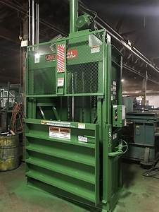 8280 Used Ptr Baler And Compactor Model 2300hd Vertical Balers Recycling Equipment
