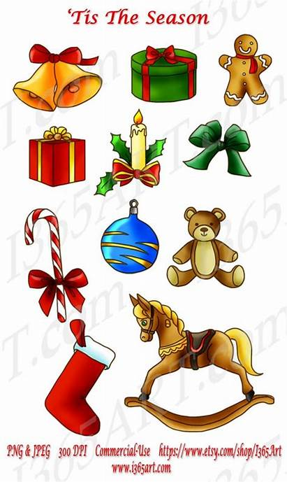 Christmas Clipart Objects Merry Horse Rocking Candy