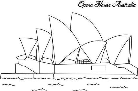 Sydney Opera House Coloring Page Sketch
