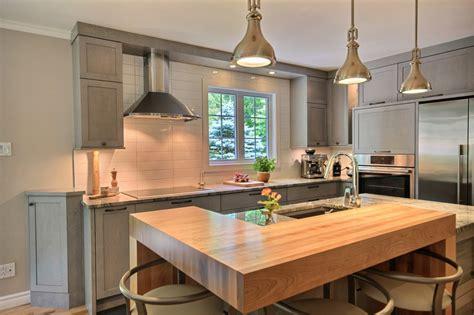 au comptoir des couleurs cuisine classique gris marbre et bois richard