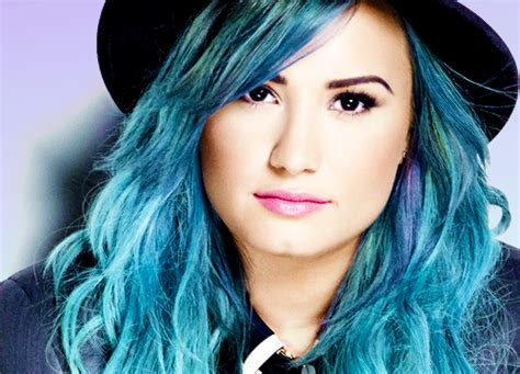 Demi Lovato Blue Hair Free Wallpapers