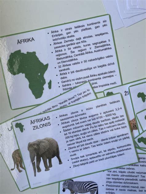 Āfrikas dzīvnieki - Mācību materiāli